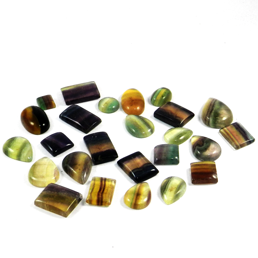 Hurry Up!!! Big Sale Of 25 Pcs Natural Fluorite 100 Gram, Mix Cabochon Gemstone For Jewelry SI0585