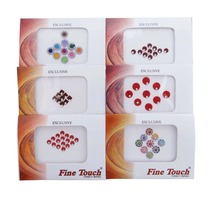 Multi Color 12 Packets Lot Bindi Temporary Stickers Bollywood Forehead Tikka