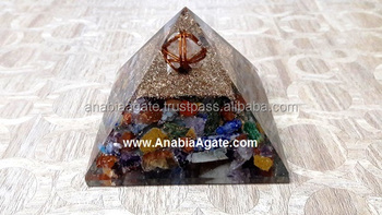 Orgone Pyramids with Merkaba Star: Alibaba Seller of Mix Gemstone Orogne pyramids