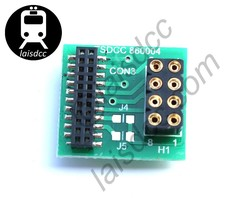 DCC 21pin to 8pin adaptor/converter. For locos with 21-pin sockets to use an 8-pin decoder