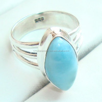 Larimar rings 925 silver jewelry gemstone antique sterling silver 925 jewelry