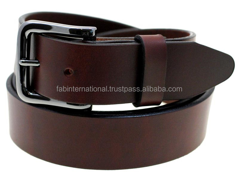 Stylish men Leather Belt with Brass Buckle