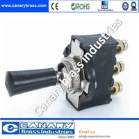 Electronic brass toggle switch