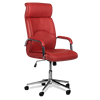 High back quality manager ergonomic computer PU swivel desk office chair with chrome base 6050 9 colors
