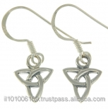 Tiny Celtic Trinity Knot Earrings, ep155