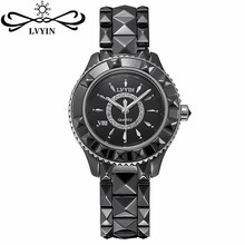 High Quality Fashion Brand Strap Quartz Watch Wristwatches for Women Ladies Lovers Black White