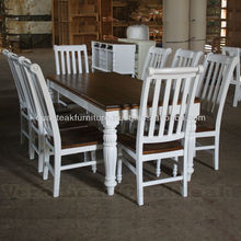 Antique Dining Table Sets - White Painted Provencial Furniture