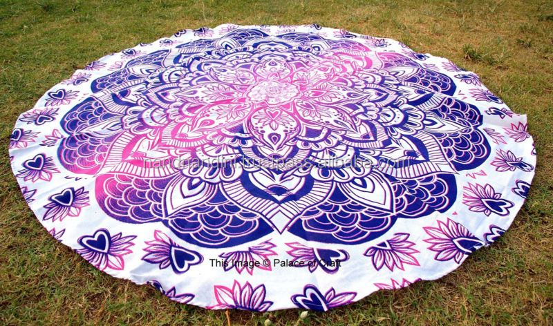 "New Hippie Gyppy Indian Round Mandala Tapestry 72"" inches Queen Size Beach Throw Blanket Yoga mats RT0044"