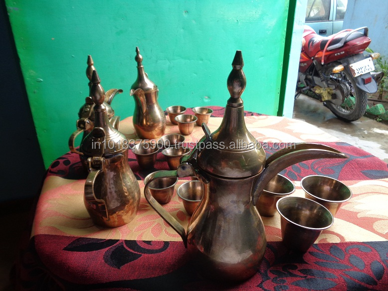 Brass Arabic - Turkish Coffee / Tea / Milk Dallah,, Arabic Dallah , 6497