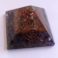 Amethyst Orgone Energy Pyramid With Crystal