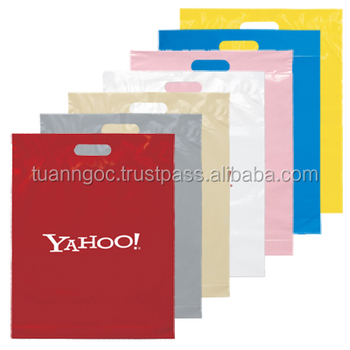 Gift/Merchandise die cut plastic bag for packaging clothes/shoes