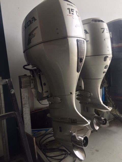 FREE SHIPPING FOR USED HONDA 150HP FOUR STROKE OUTBOARD MOTOR