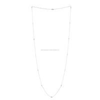 14kt White Gold Bezel Diamond Designer Rope/Lariat Necklace Wholesale Jewelry