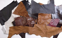 Upholstery Leather Pieces Assorted Colors genuine leather scrap for sale waste leather Grade A