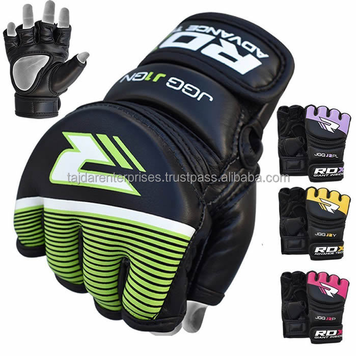 AUTHENTIC RDX MAYA HIDE LEATHER KIDS MMA GLOVES