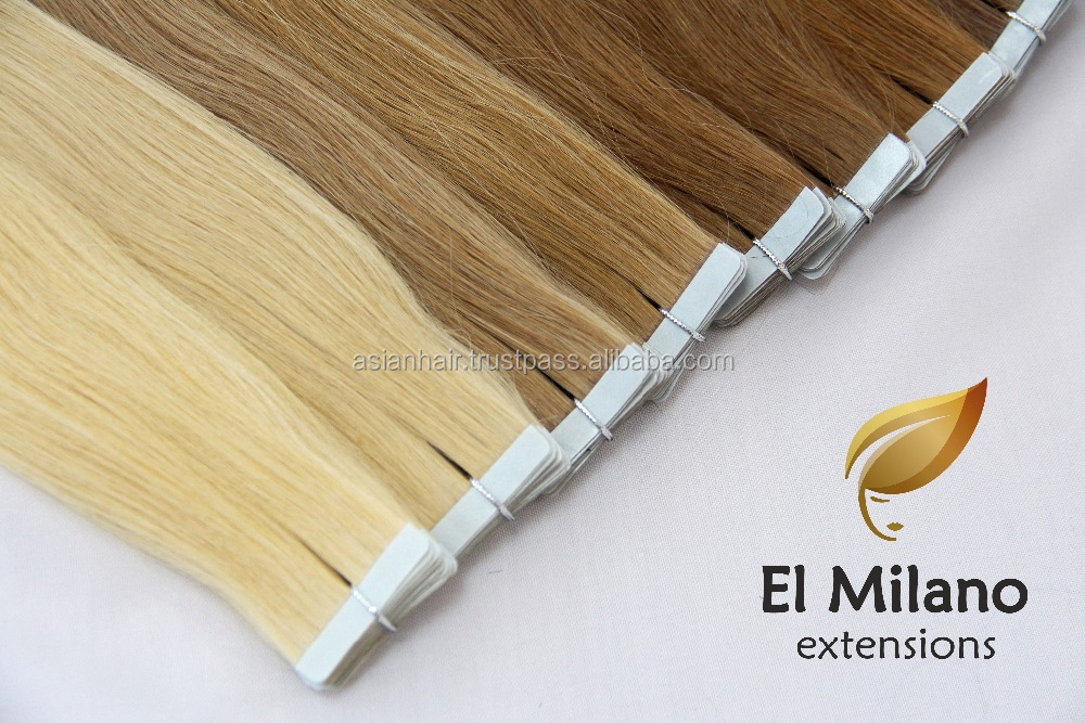 Best 100% Natural Virgin Human Hair Tape In Extensions From El Milano Grow Tent