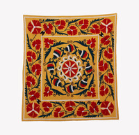 Decorative Antique Hand Made Suzani Embroidered Table Runner Cotton Table Cover