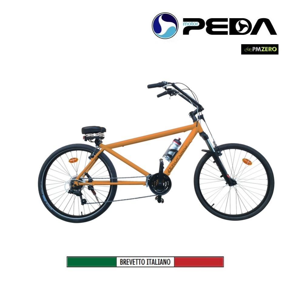 (PEDA MOTOR 2017) Wellness Electric Bicycle Aluminum frame Made in Italy world exclusive invention by PM