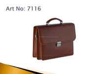 "2016 Wholesale Mens Crazy Horse 100% Genuine VintageLeather Briefcase 14"" Antique HP Leather Laptop Bag for"