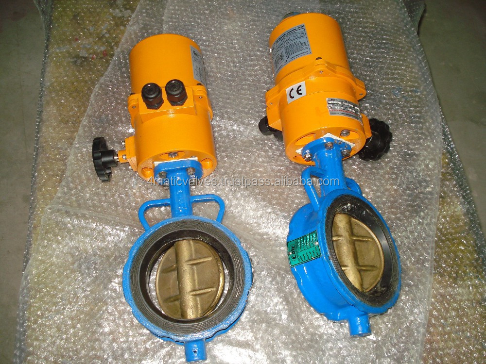 Electric Actuator Operated Aluminium Bronze Disc Butterfly Valve