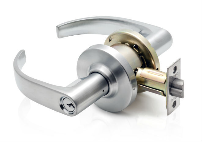 Grade 2 Cylindrical Commercial Key Entrance Lever
