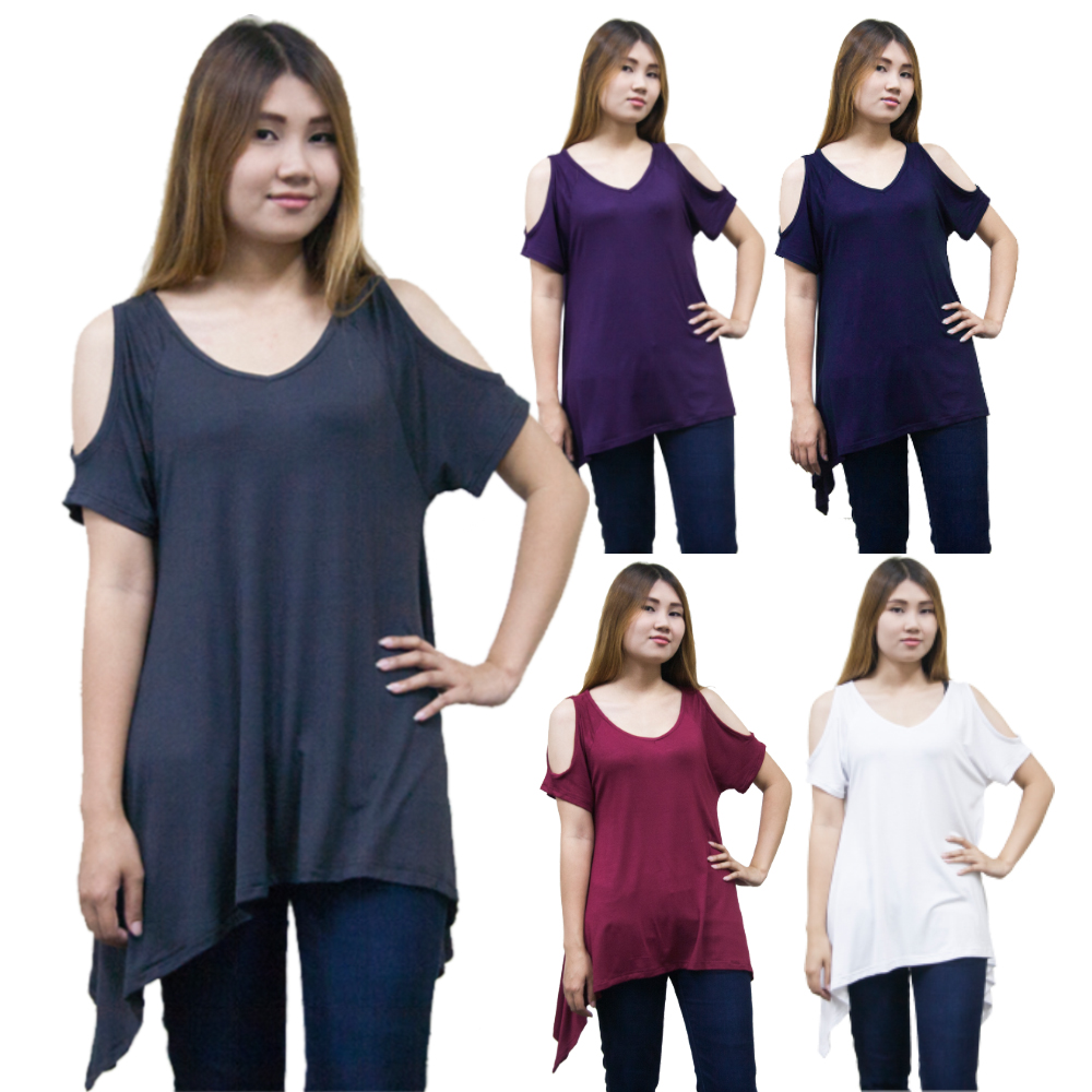 Womens Ladies Dressy Summer Casual Cold Off the shoulder Tank Tops Shirts Blouse