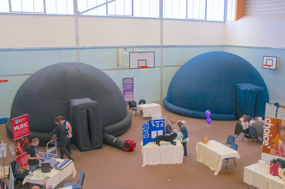 4- 12 Meter mobile Inflatable Dome 'Go Dome' System Immersive