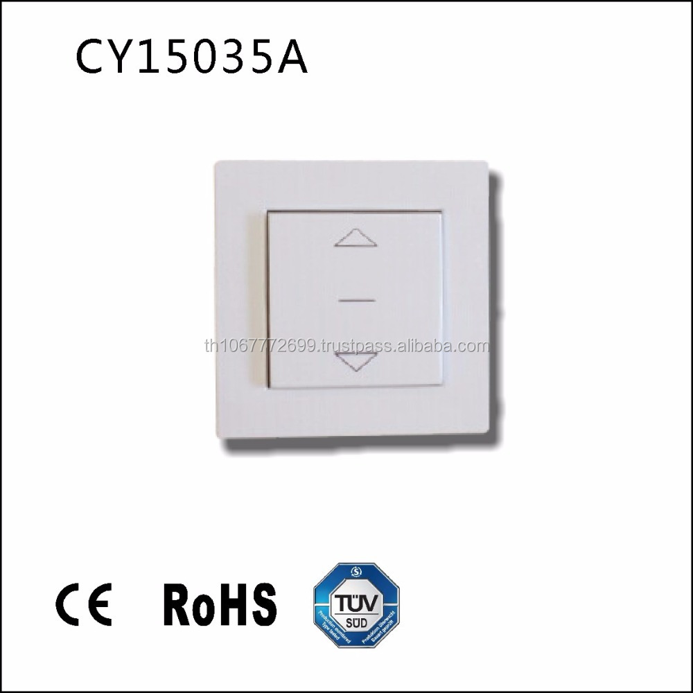 "CY15035A Switch for roller shutter and blinds with ""Up and Down"" function, flush-mounted white"