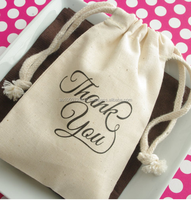 Cotton Favor Bag muslin favor bag birthday wedding imprinted cotton bag