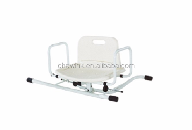 Safety easy use swivel shower seat toilet chair for elderly