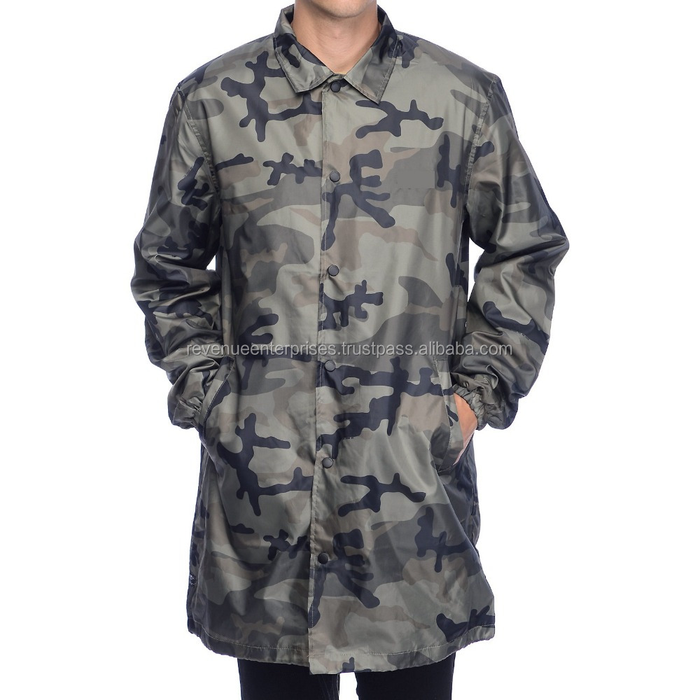 Camo Coache Jacket/Custom Camo Coache Jacket/Camo hgih quality coach jackets