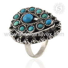 Operable 925 Sterling Silver Jewelry Turquoise, Silver Jewelry Natural Stone, Indian Silver Jewelry Ring Suppliers