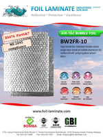 High tensile fire retardant bubble aluminium foil
