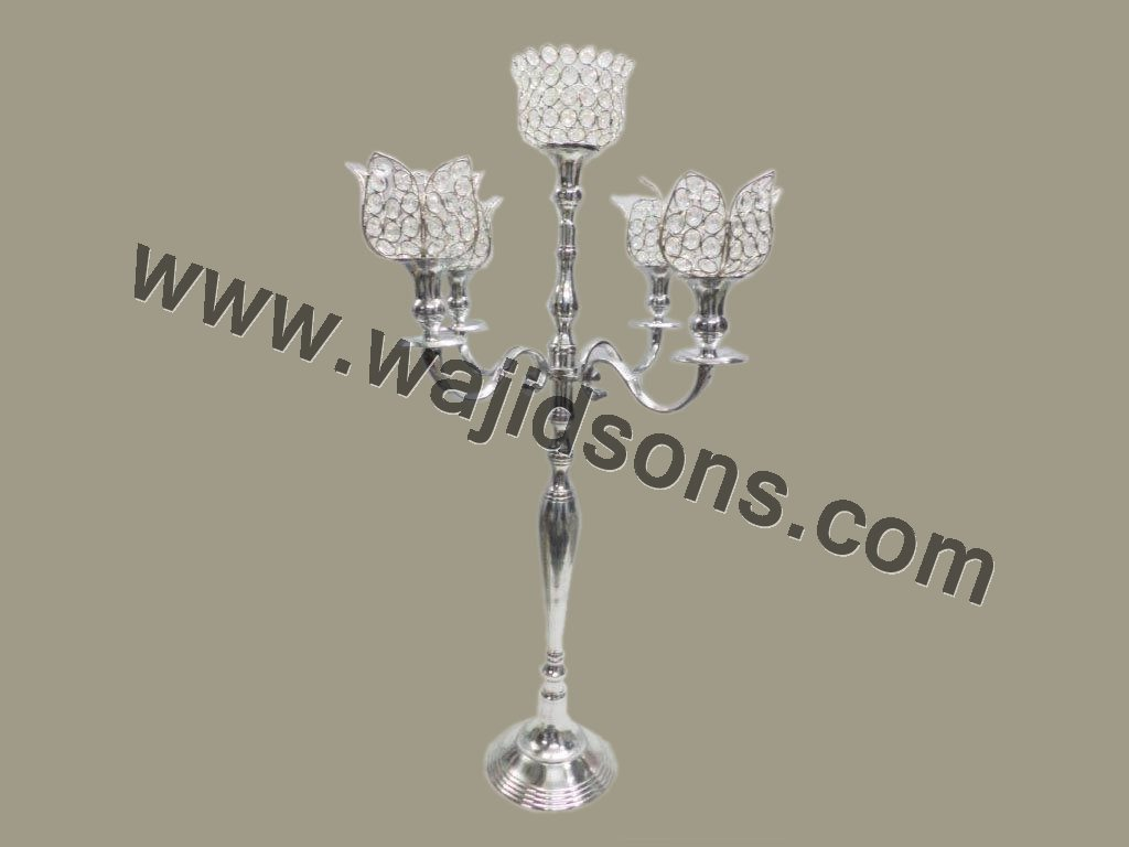 Stemmed Candle Holders Vintage Crystal Candelabra & Candelabra centerpieces wedding