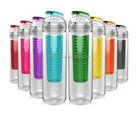 Tritan Plastic BPA Free Fruit Infuser Water Bottle 700ml