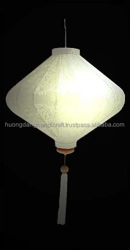 Silk Lantern, White beautyful and Luxurious product for decor/ event made in Vietnam