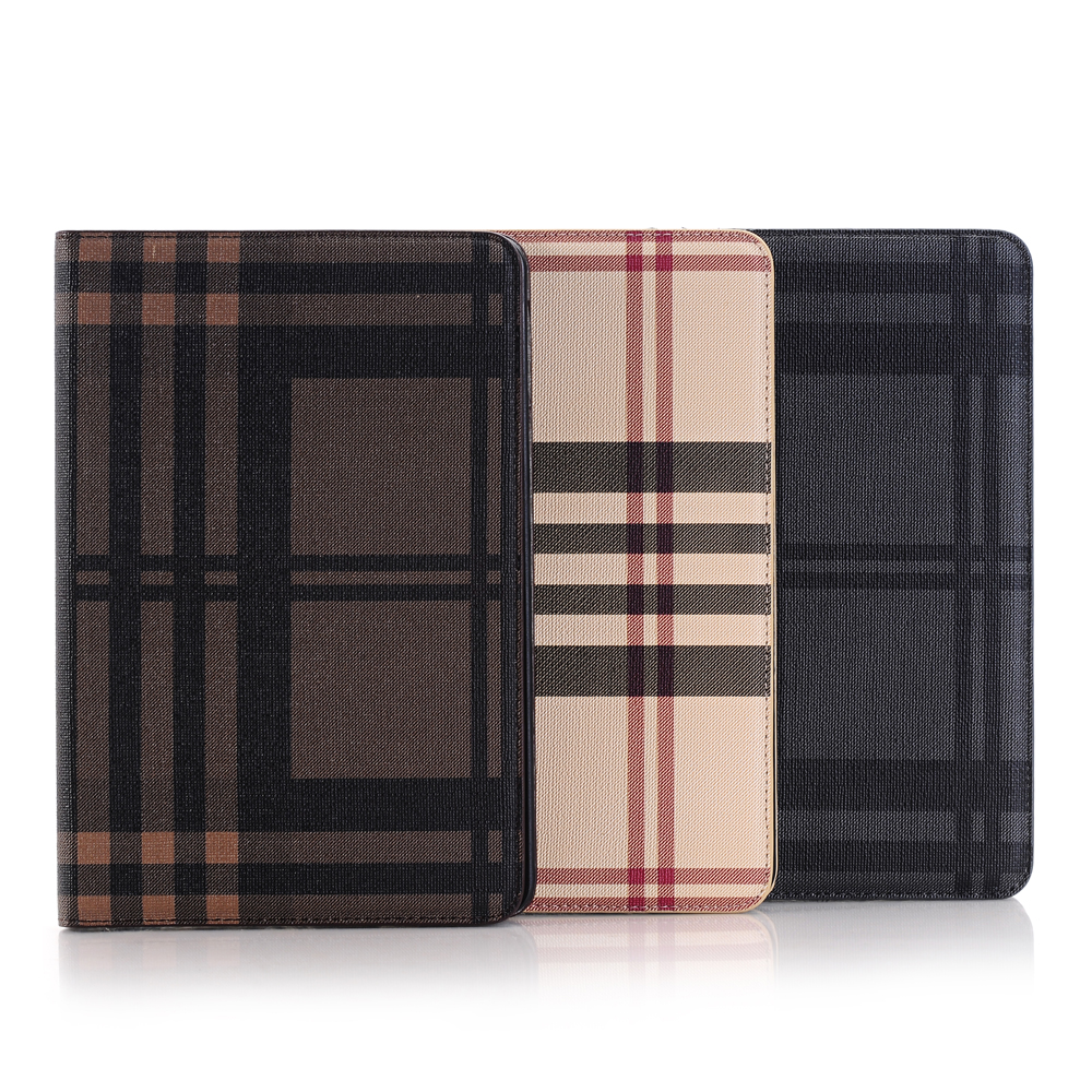 IMPRUE Plaid design leather case for apple ipad mini 4