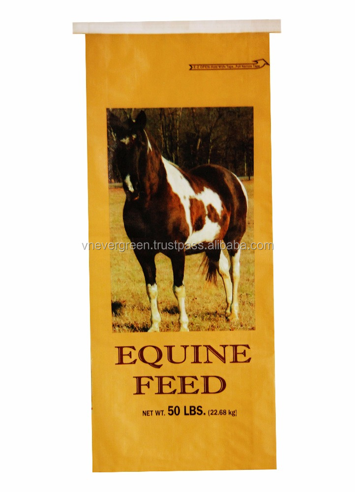 Vietnam Very high qualtiy of Bopp Lamination PP Reusable Woven Bag for horse feed