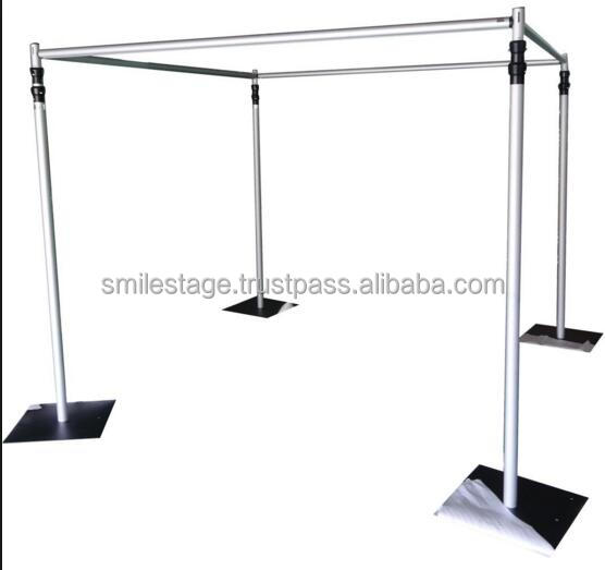 Telescopic pipe and drape stands adjustable pipe and drape for sale