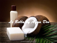 Whitening Coconut oil Soap LA BELLA with coconut oil and glutathione product of Thailand