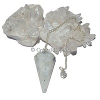 Rainbow Moonstone 12 Faceted Healing Pendulums : Top Collection Faceted Healing Pendulums