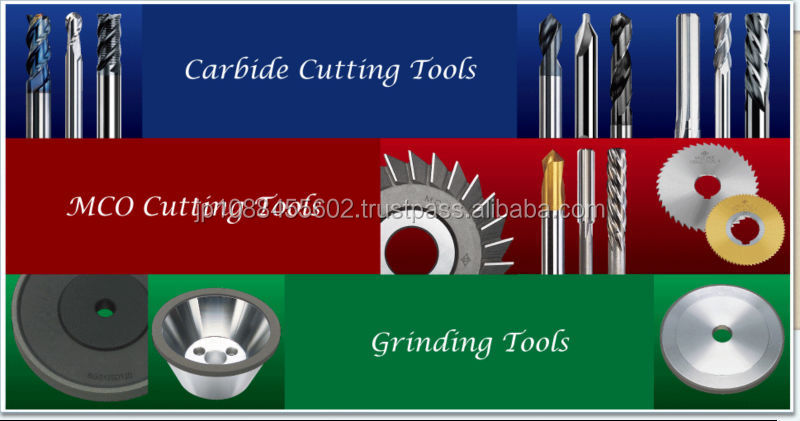 High efficient carbide end mill machine tool for all solid materials
