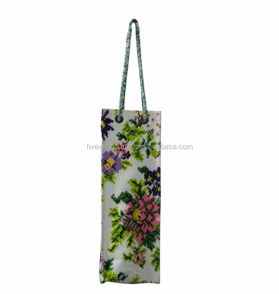 floral print wine and water bottle cover