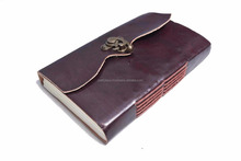 Handmade Leather Travel notebook with lock Journal Diary Sketchbook Notebook Handmade Paper Leather Dairy Wholesale