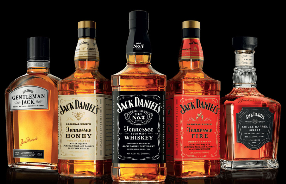 - Chivas, Jack Daniels, J&B, Johnnie Walker, Bacardi, Others