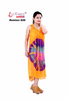 U Neck Tye-N-Dye Dress