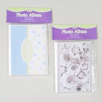 PHOTO ALBUM 4X6 24 POCKET SOFT COVER FLAT PACK 4AST BABY/WEDDNG #G40331