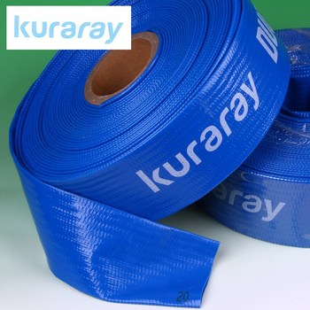 PVC irrigation water hose for general and agricultural use. Manufacturd by Kuraray. Made in Japan (3 inch flexible drain hose)