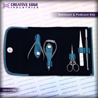 cuticle pusher nail cutter & nail scissor set / pedicure beauty nail care kit /barber kit with beautiful case /salons / CEK 1766