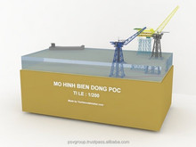 Bien Dong Poc Oil Rig Diorama Scale 1:200- Wooden Boat Handicraft